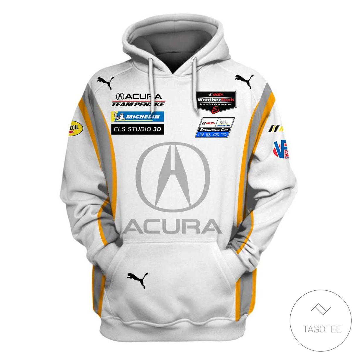 Acura Rallying Branded Unisex Racing Car  3d Hoodie