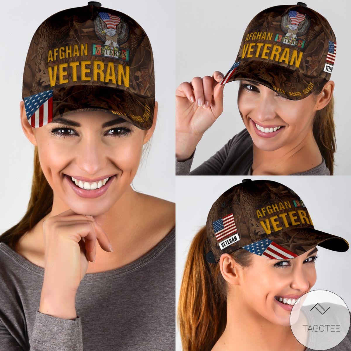 Afghan Veteran Duty Honor Country Cap