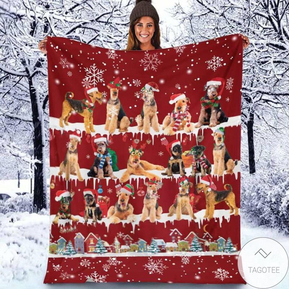 Airedale Terrier - Christmas Blanket