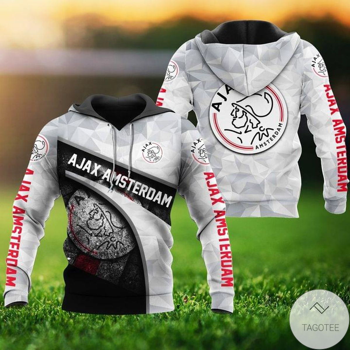 Ajax Amsterdam Fc Gray Hoodie