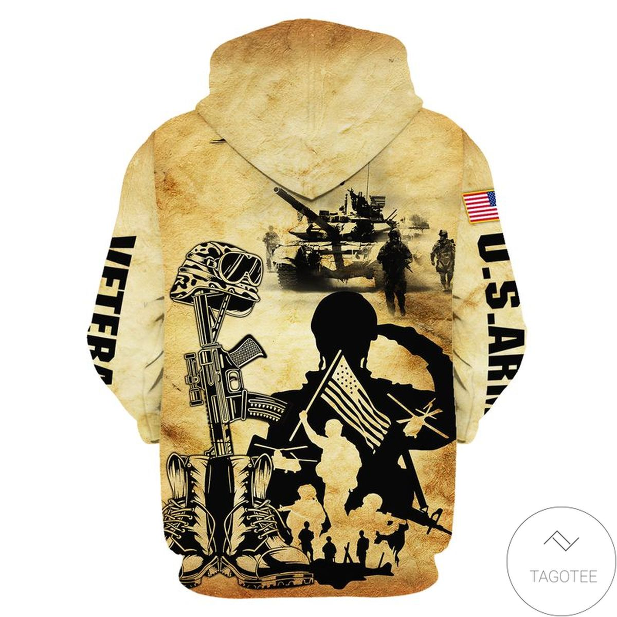 Hot All Gave Some Some Gave All Us Army Zip Hoodie