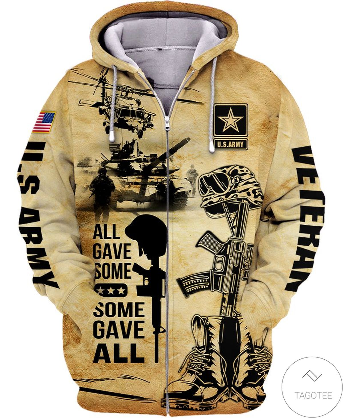 All Gave Some Some Gave All Us Army Zip Hoodie