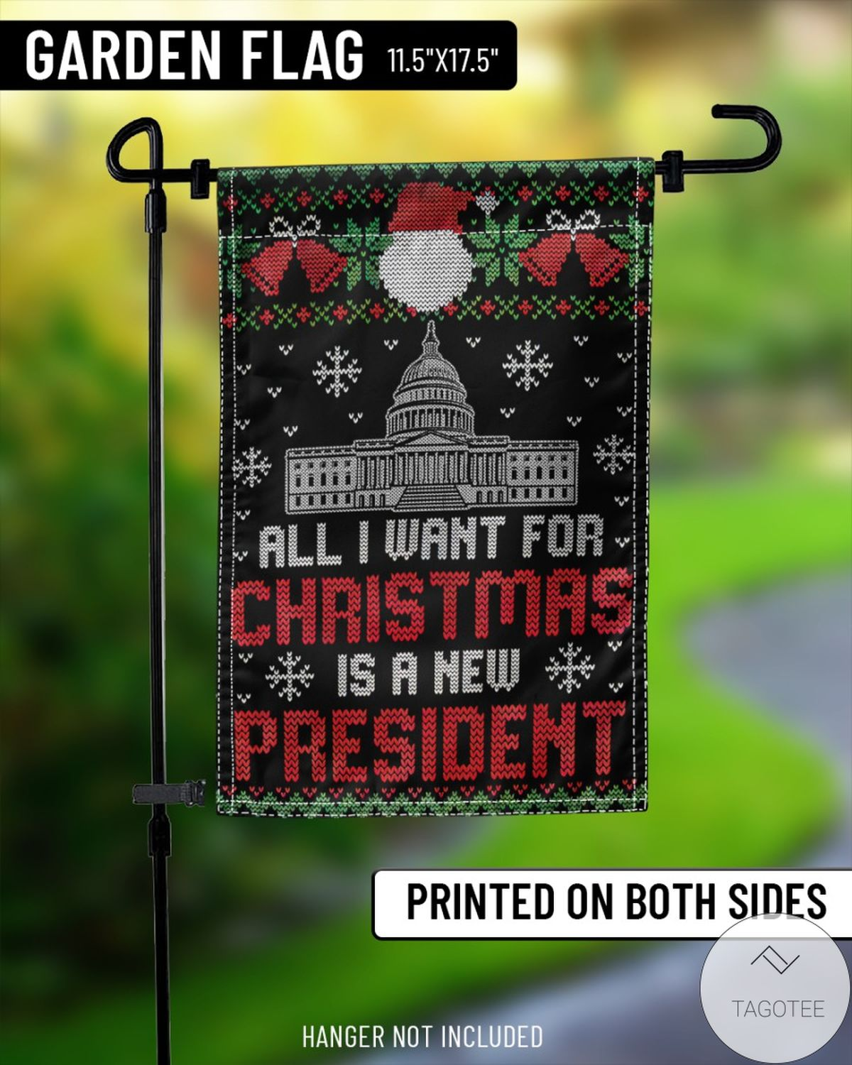 Popular All I Want For Christmas Is A New President Flag
