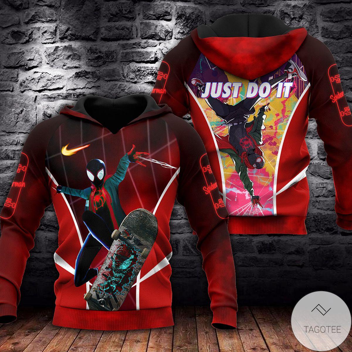 Amazing Spiderman Red 3d Hoodie