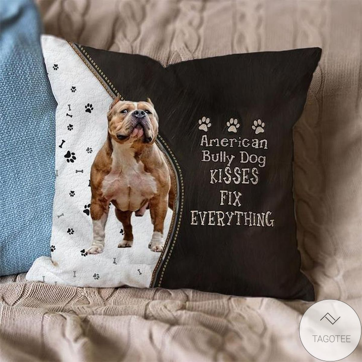Limited Edition American Bully Dog Kisses Fix Everything Pillowcase