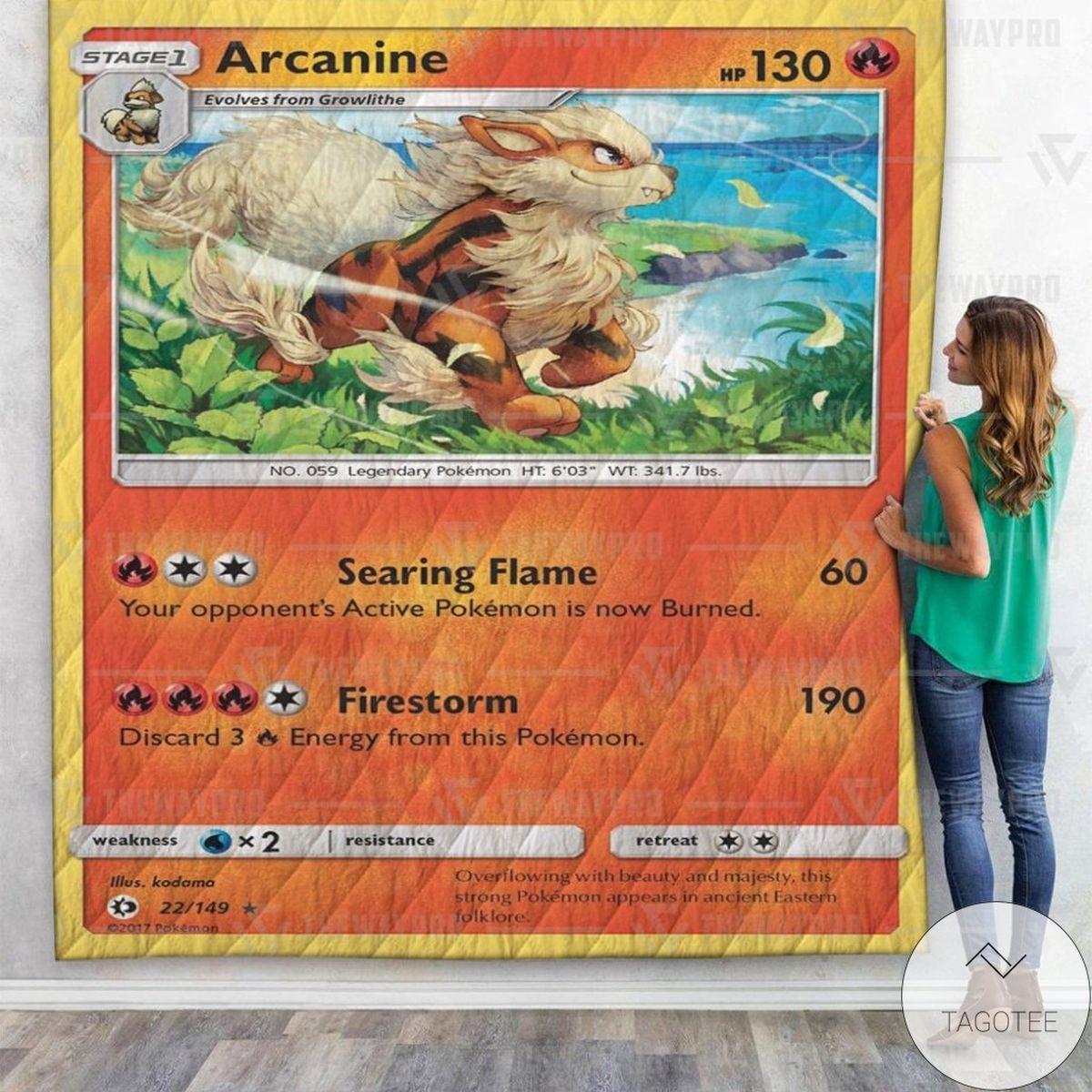 Anime Pokemon Arcanine Custom Quilt