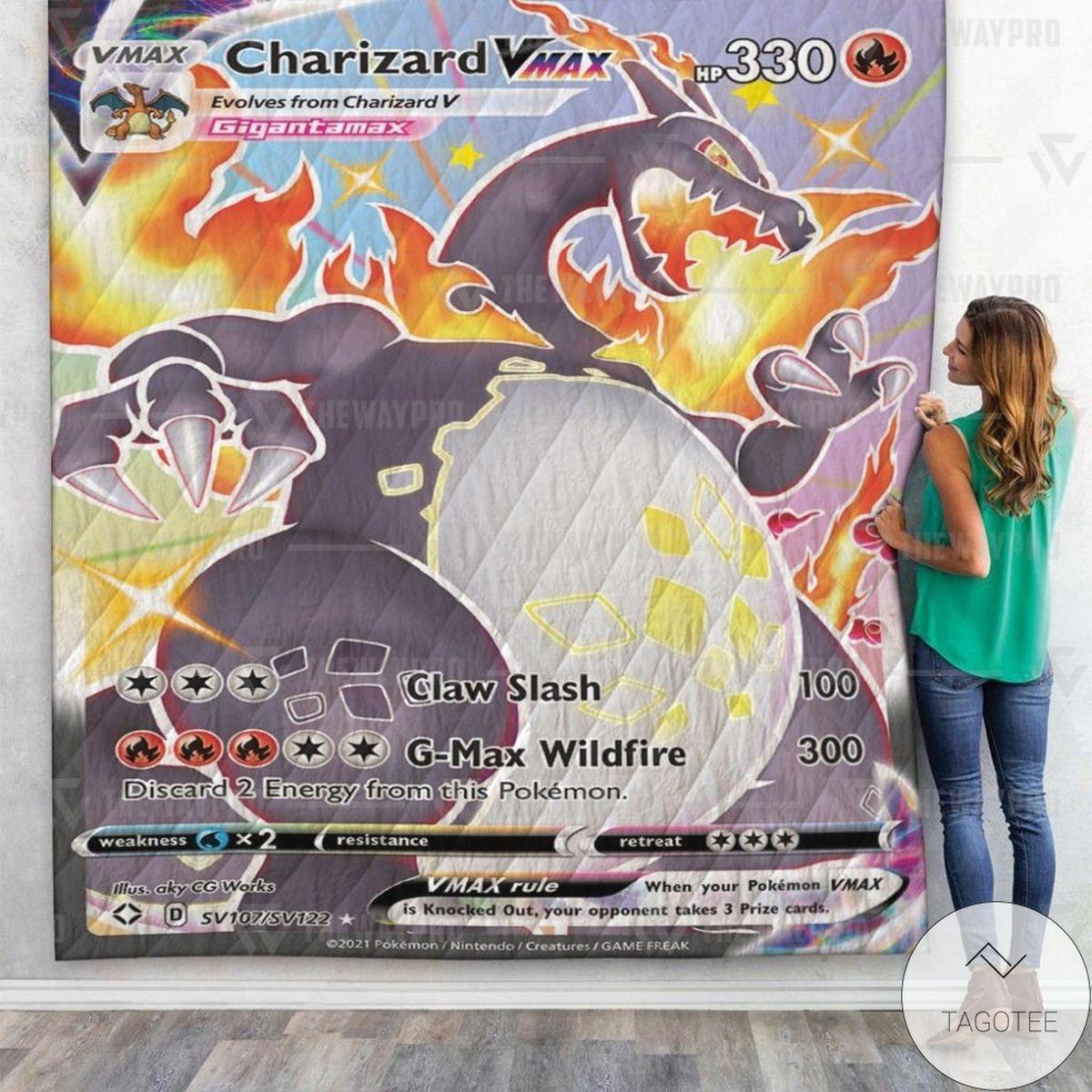 Anime Pokemon Charizard VMAX Shining Fates Custom Quilt
