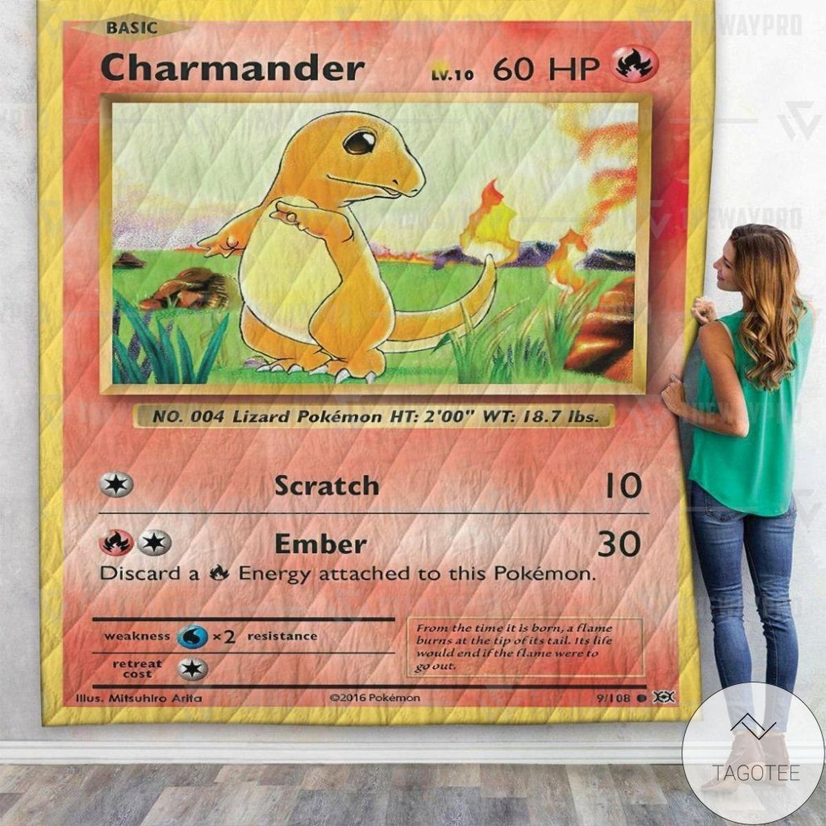 Anime Pokemon Charmander Custom Quilt