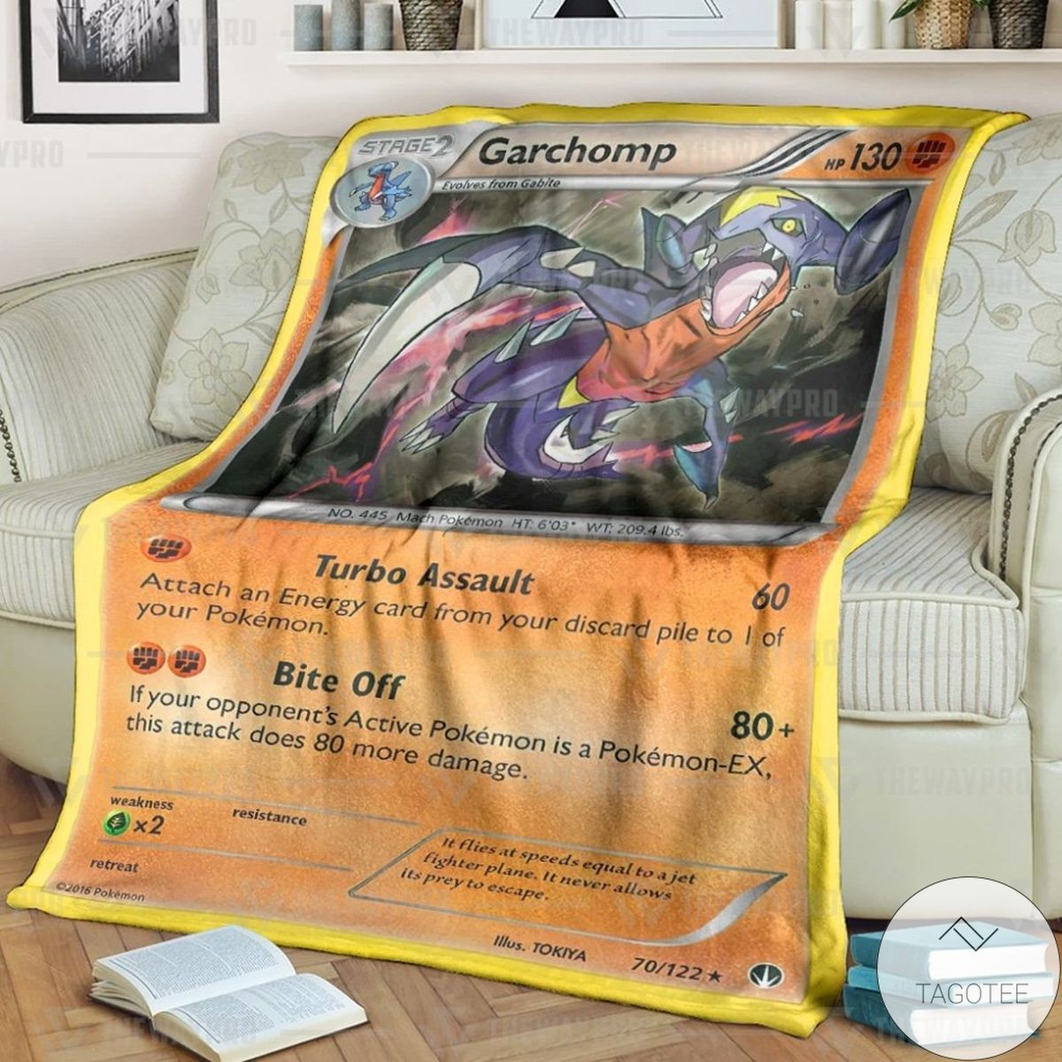 Anime Pokemon Garchomp BREAKpoint Custom Blanket