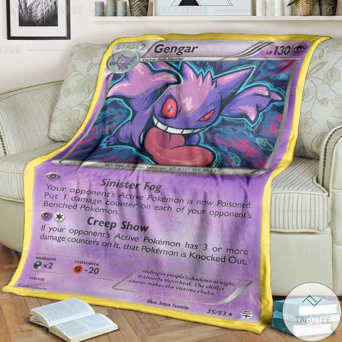 Anime Pokemon Gengar Generations Custom Blanket