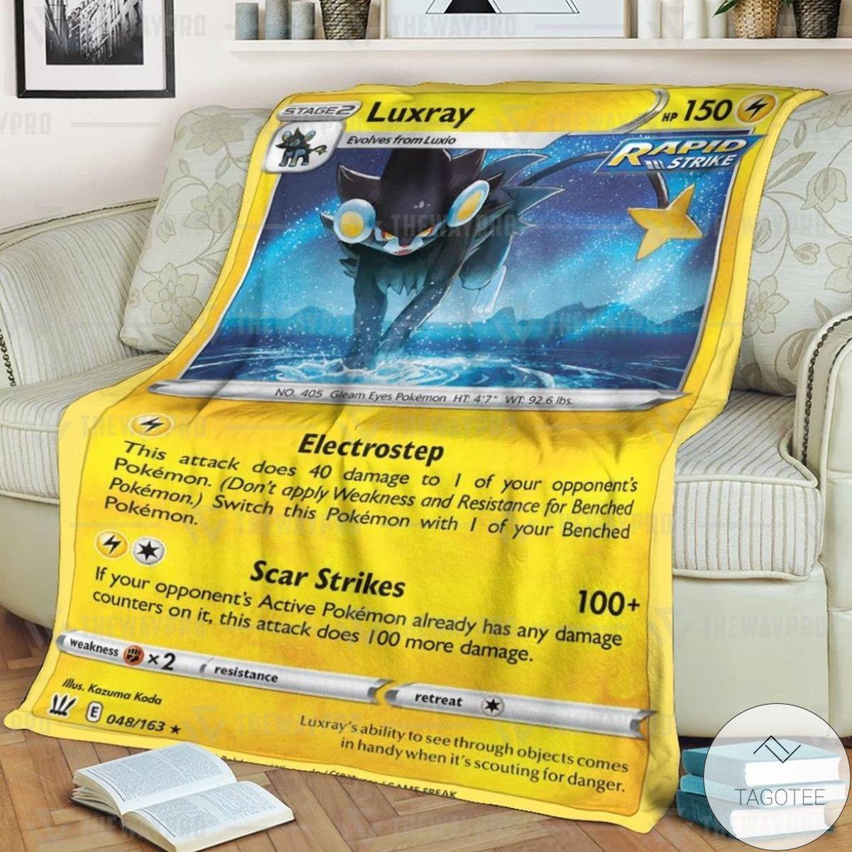 Anime Pokemon Luxray Custom Blanket
