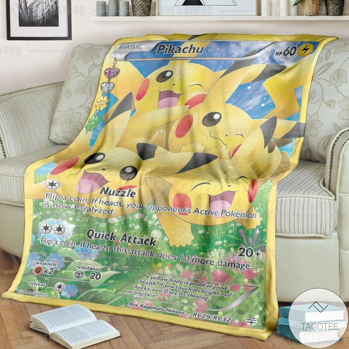 Anime Pokemon Pikachu Generations Custom Blanket