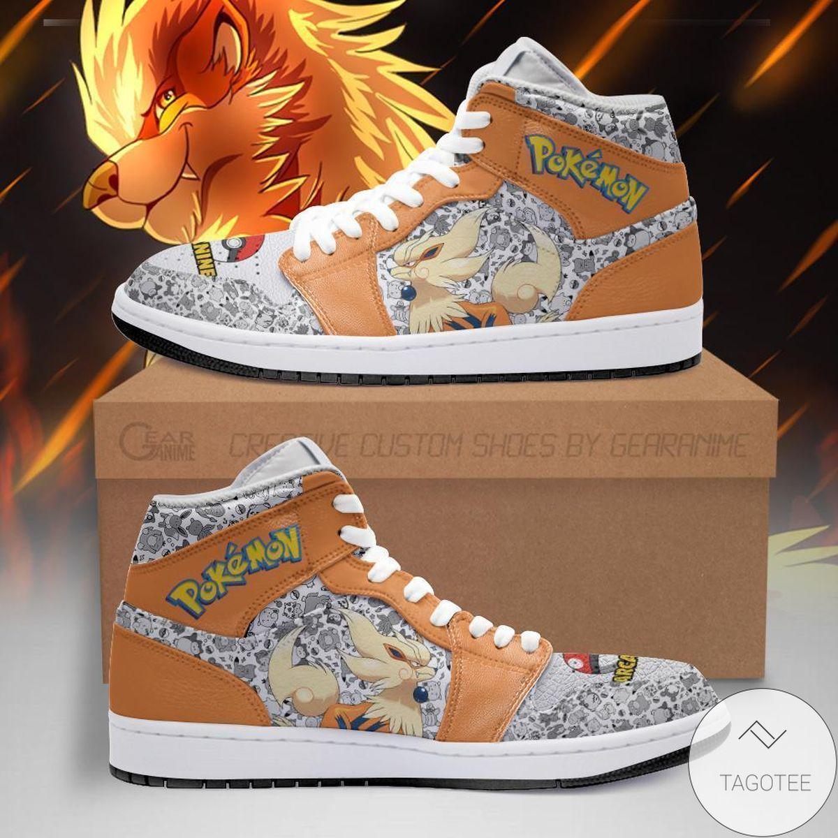 Arcanine Pokemon Air Jordan High Top Shoes