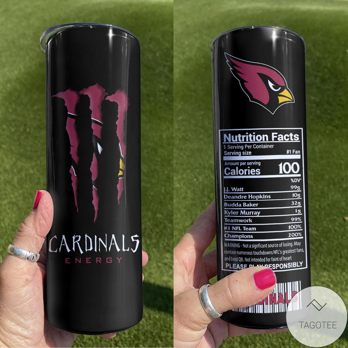 Arizona Cardinals Monster Energy Skinny Tumbler