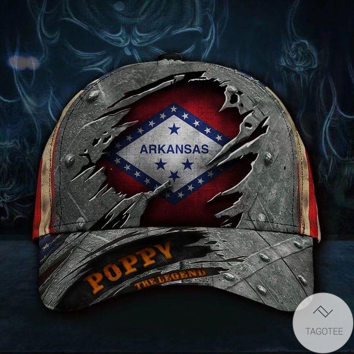 Excellent Arkansas Poppy The Legend Hat Vintage USA Flag Cap Unique Father's Day Gift Ideas
