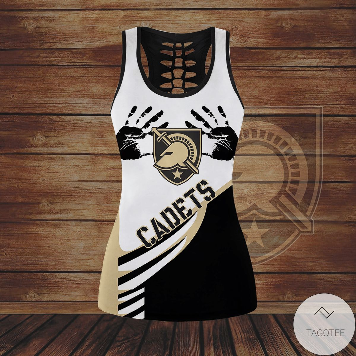 Wonderful Army Black Knights Hollow Tank Top And Leggings