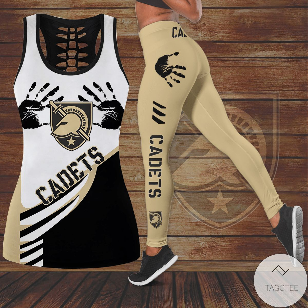 Army Black Knights Hollow Tank Top And Leggings