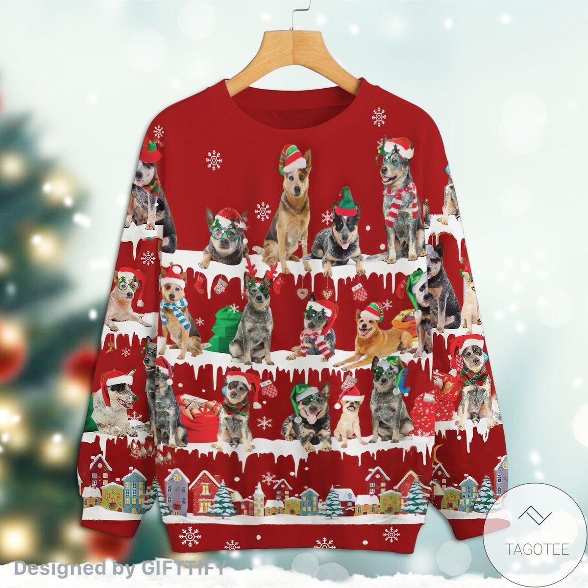 Australian Cattle Dog Snow Christmas Premium Sweatshirt