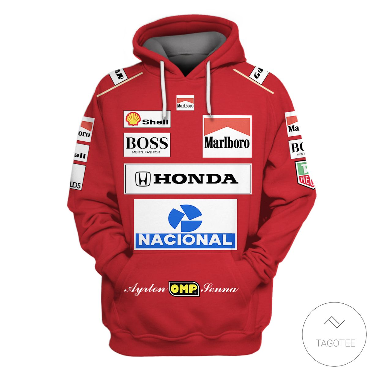 Ayrton Senna Branded Unisex 3d Hoodie