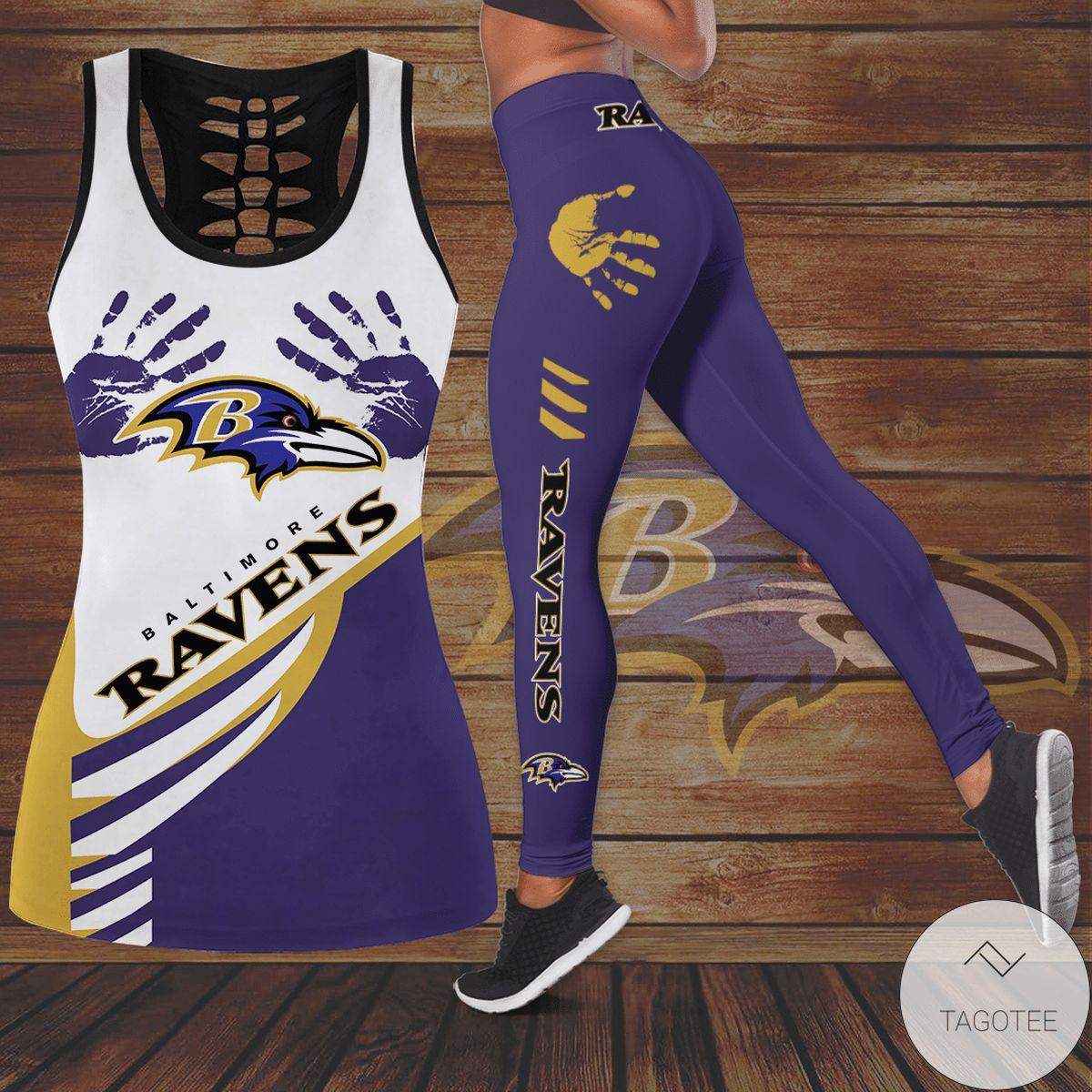 Baltimore Ravens Hollow Tank Top And Leggings