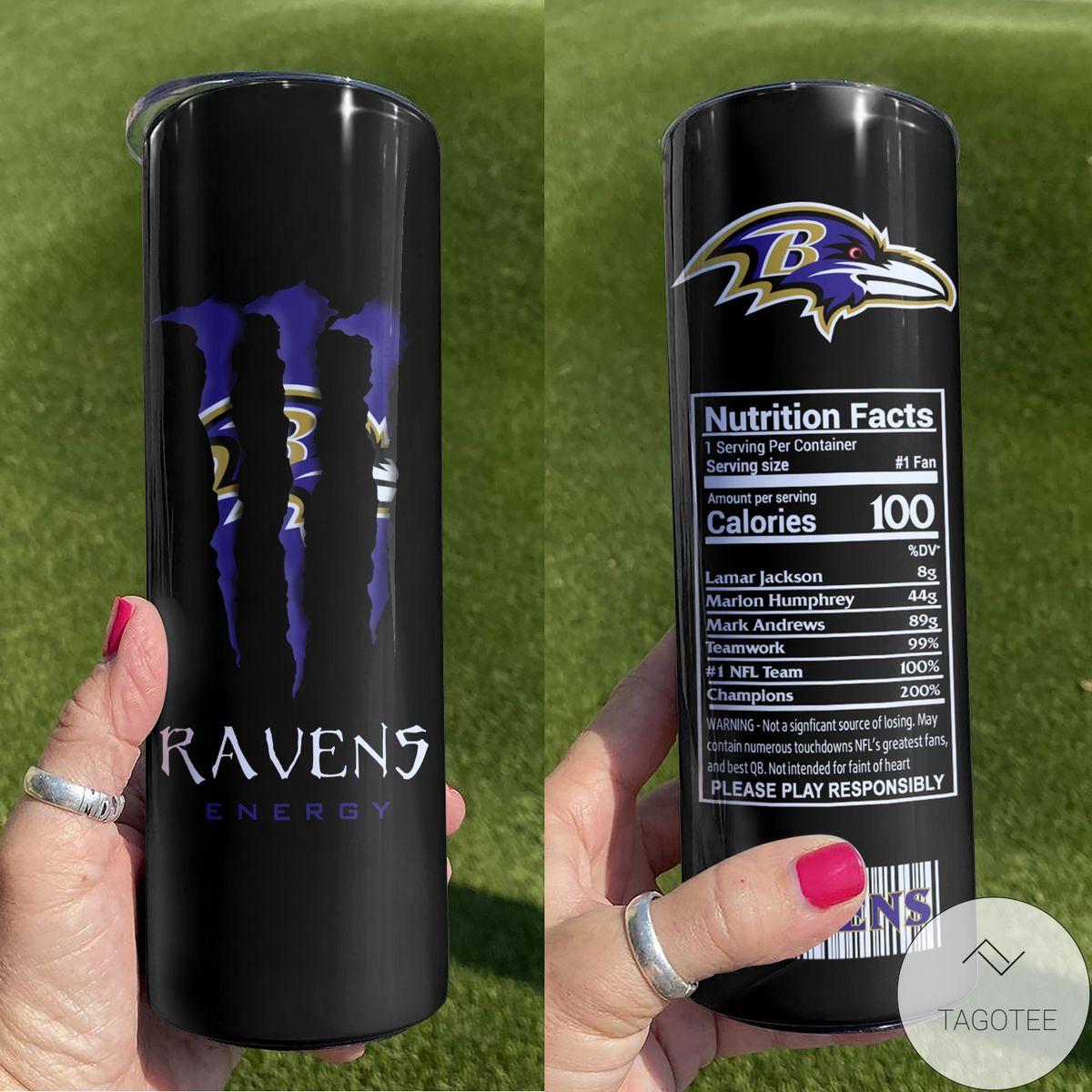 Baltimore Ravens Monster Energy Skinny Tumbler
