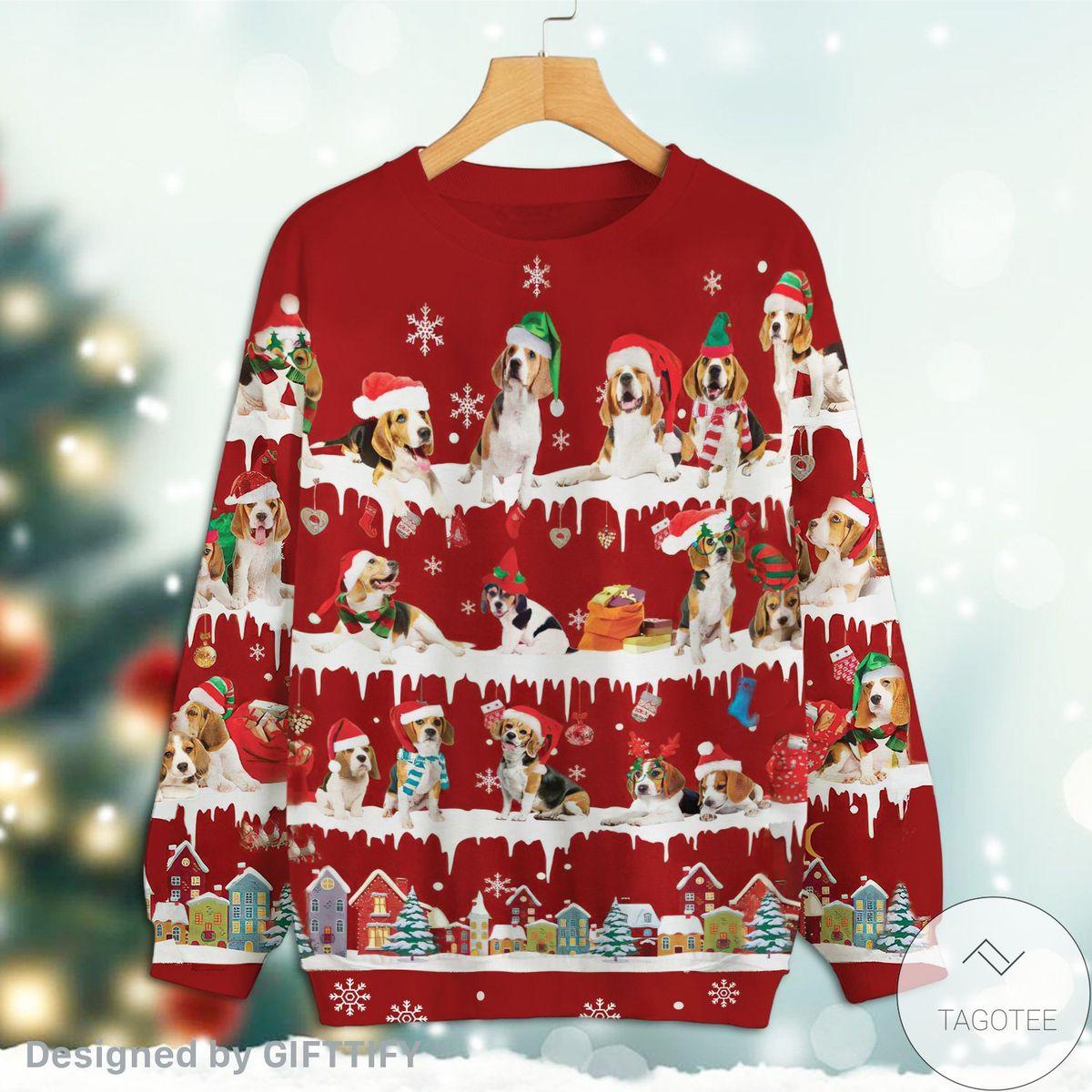 Beagle Snow Christmas Premium Sweatshirt