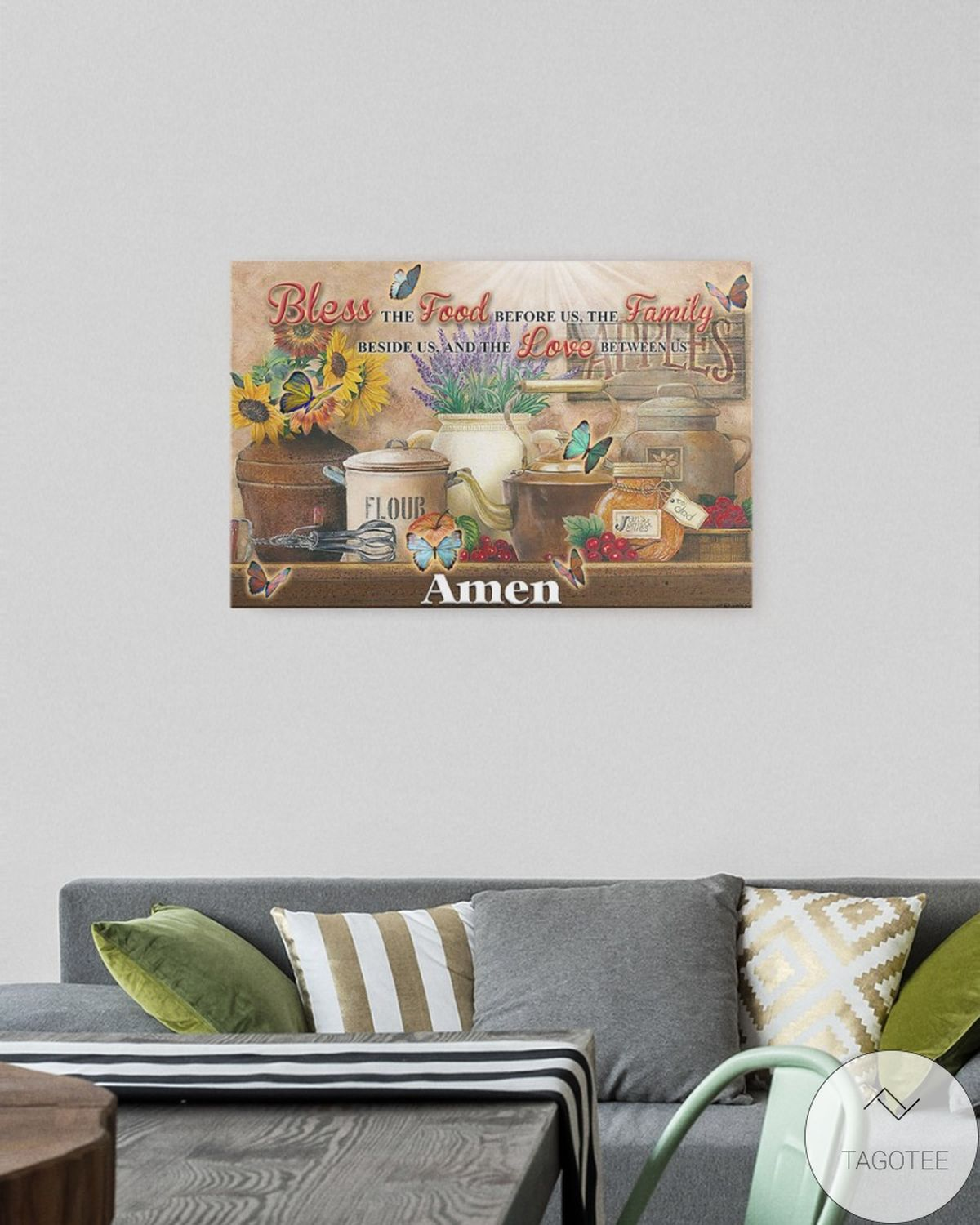 Funny Tee Bless The Food Before Us The Family Beside Us And The Love Between Us Canvas