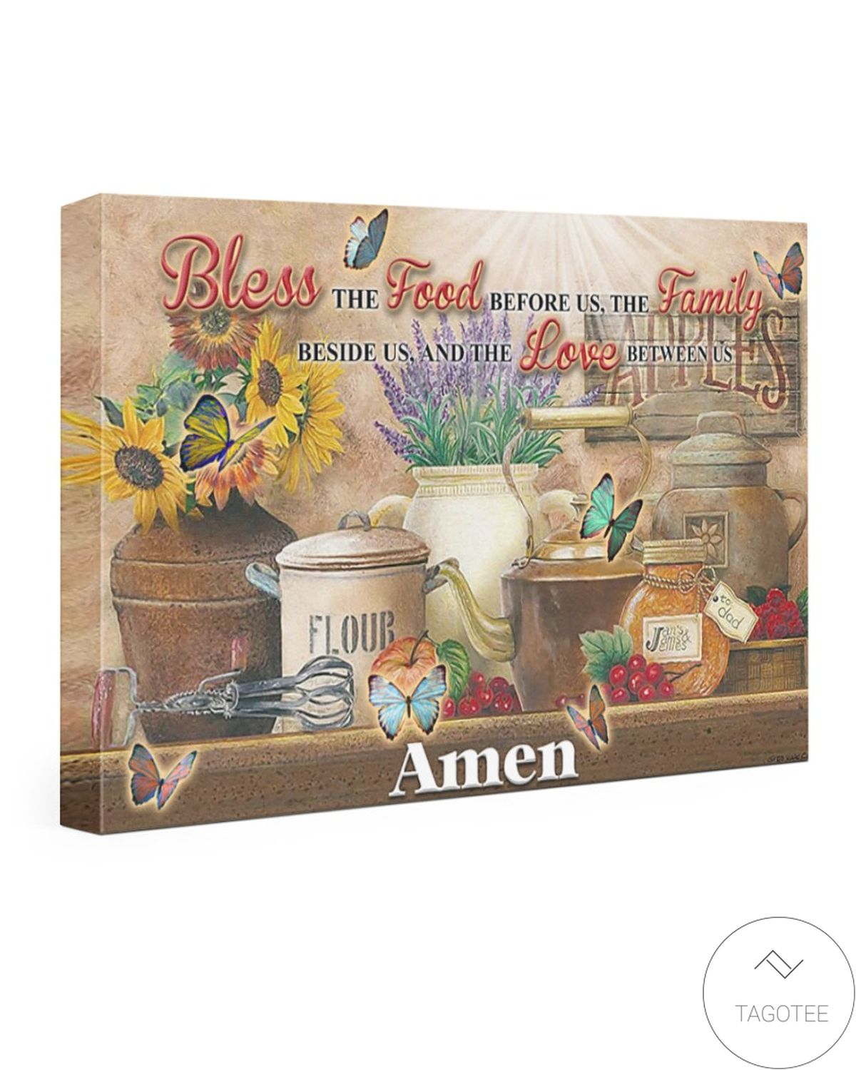 Bless The Food Before Us The Family Beside Us And The Love Between Us Canvas