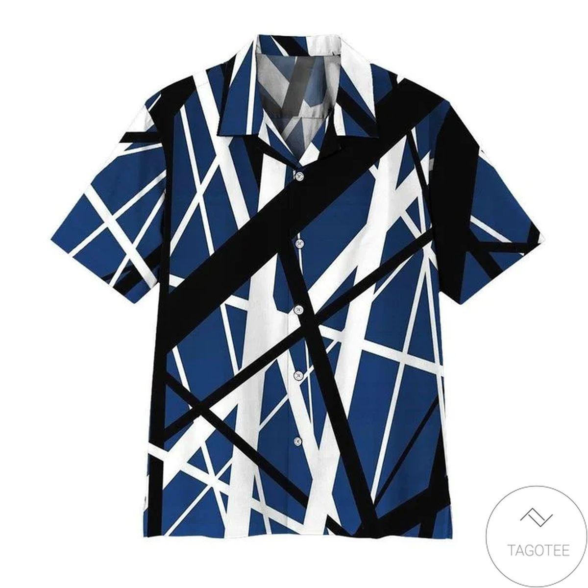 Blue Frankenstrat Strings Hawaiian Shirt