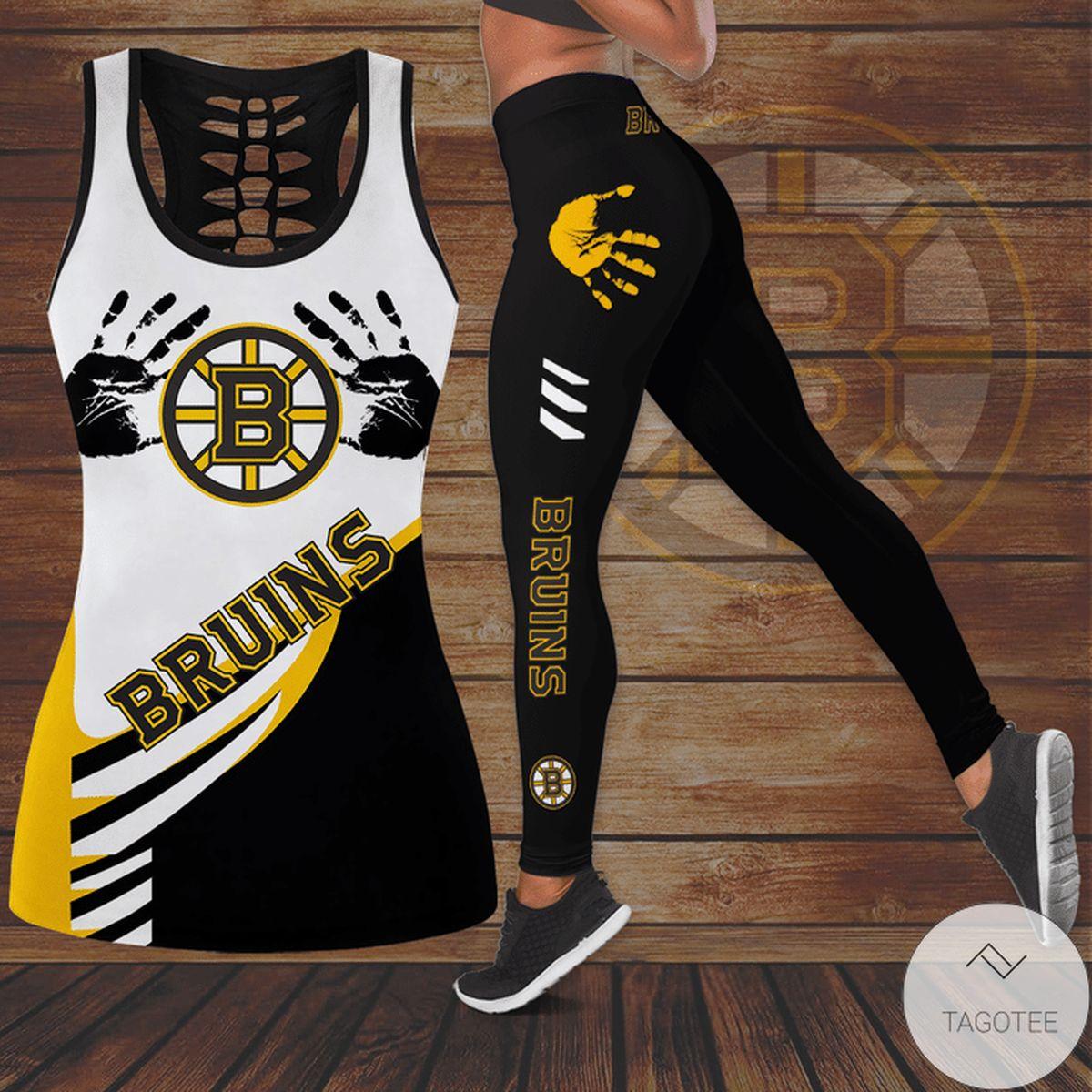 Boston Bruins Hallow Tank Top And Leggings