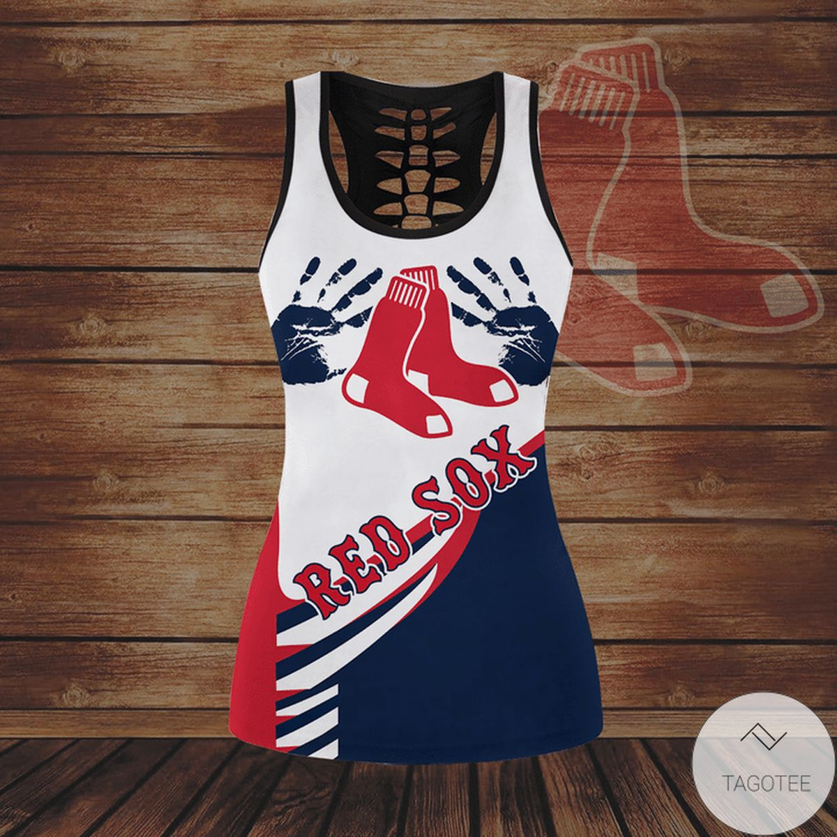 Unisex Boston Red Sox Hallow Tank Top And Leggings