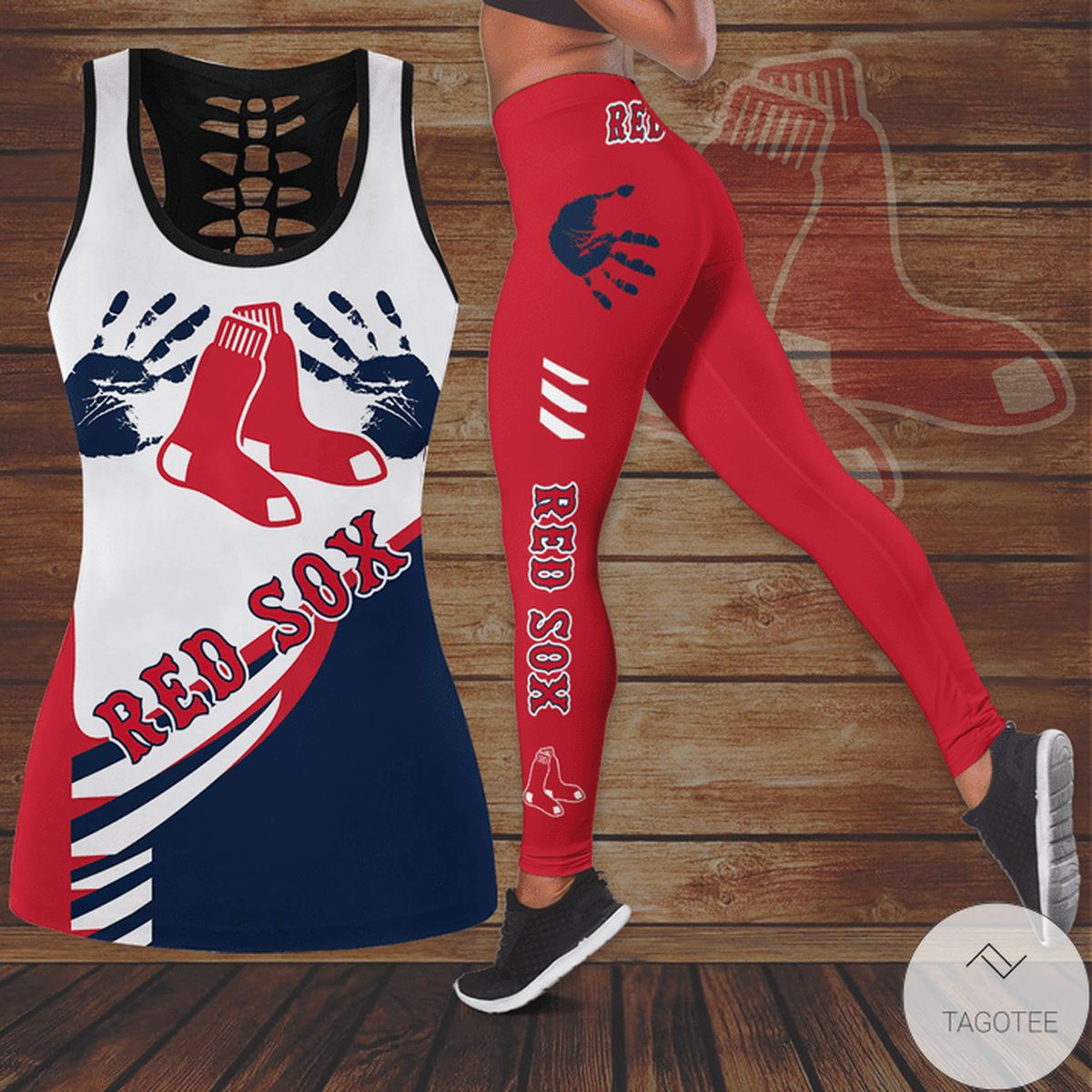 Boston Red Sox Hallow Tank Top And Leggings