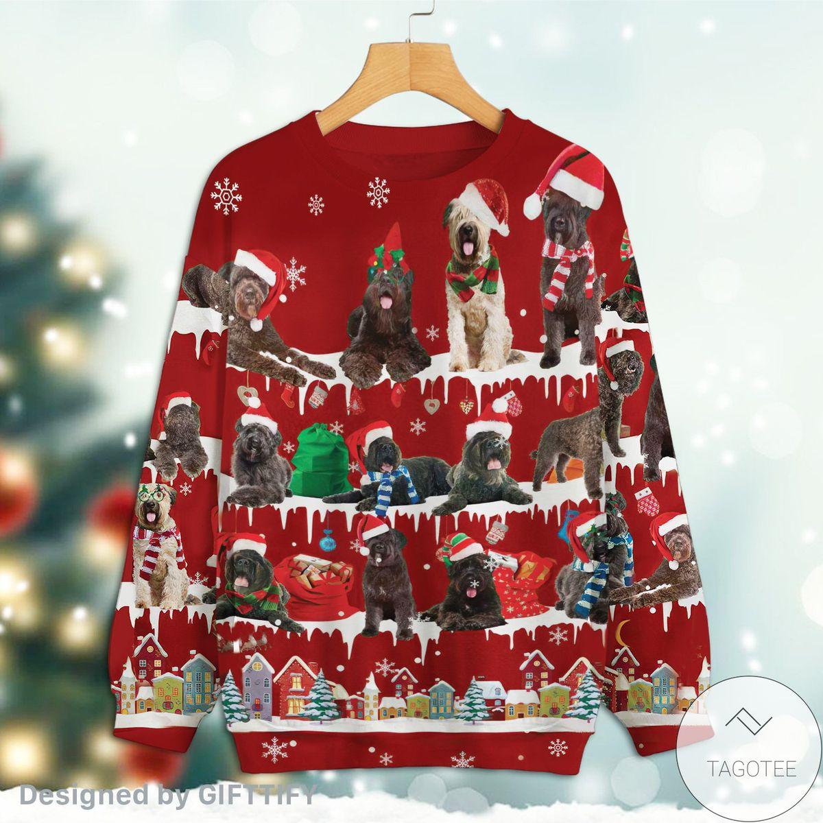 Bouvier des Flandres Snow Christmas Premium Sweatshirt