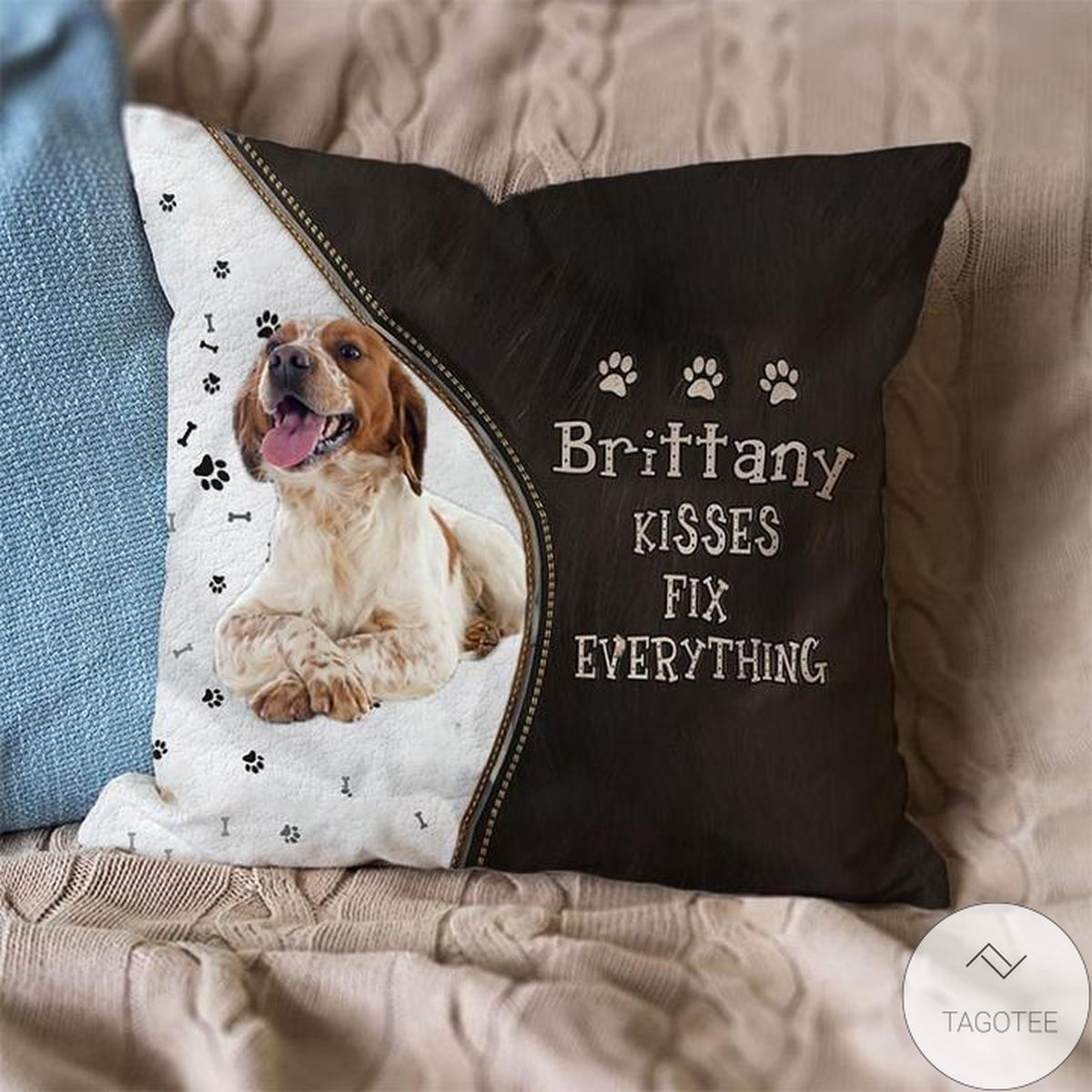 New Brittany Kisses Fix Everything Pillowcase