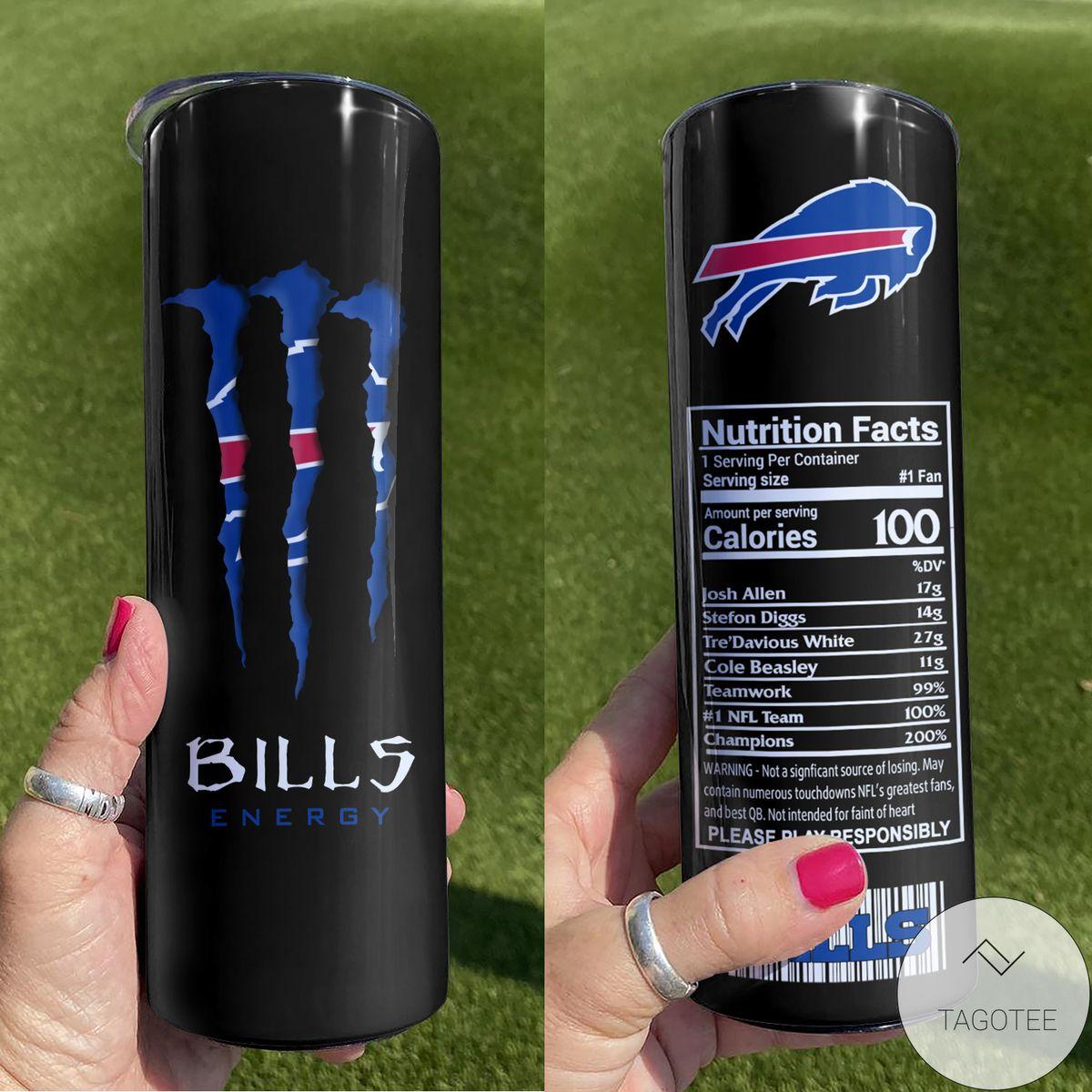 Buffalo Bills Monster Energy Skinny Tumbler