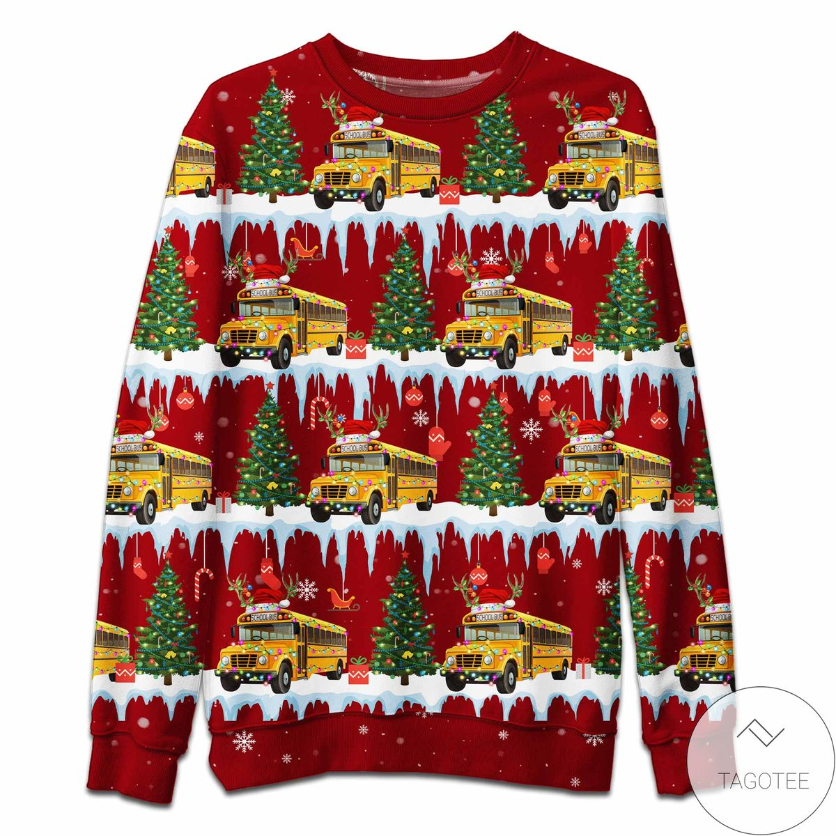 Very Good Quality Bus Driver Christmas Red Sweatshirt