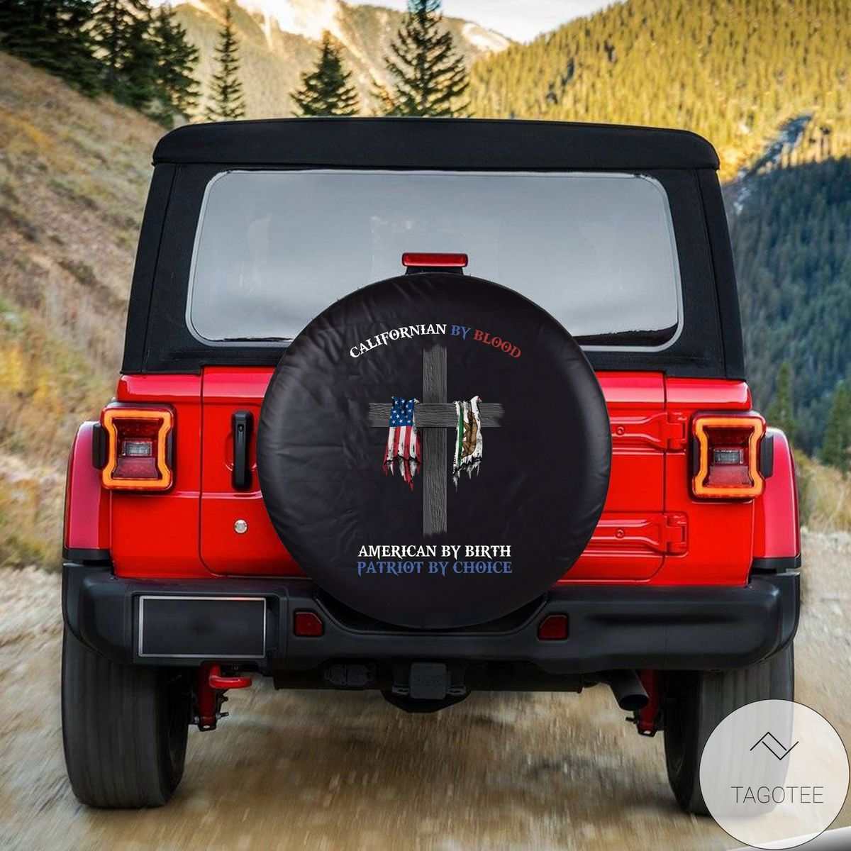 Unisex Californian By Blood American By Birth Spare Tire Cover
