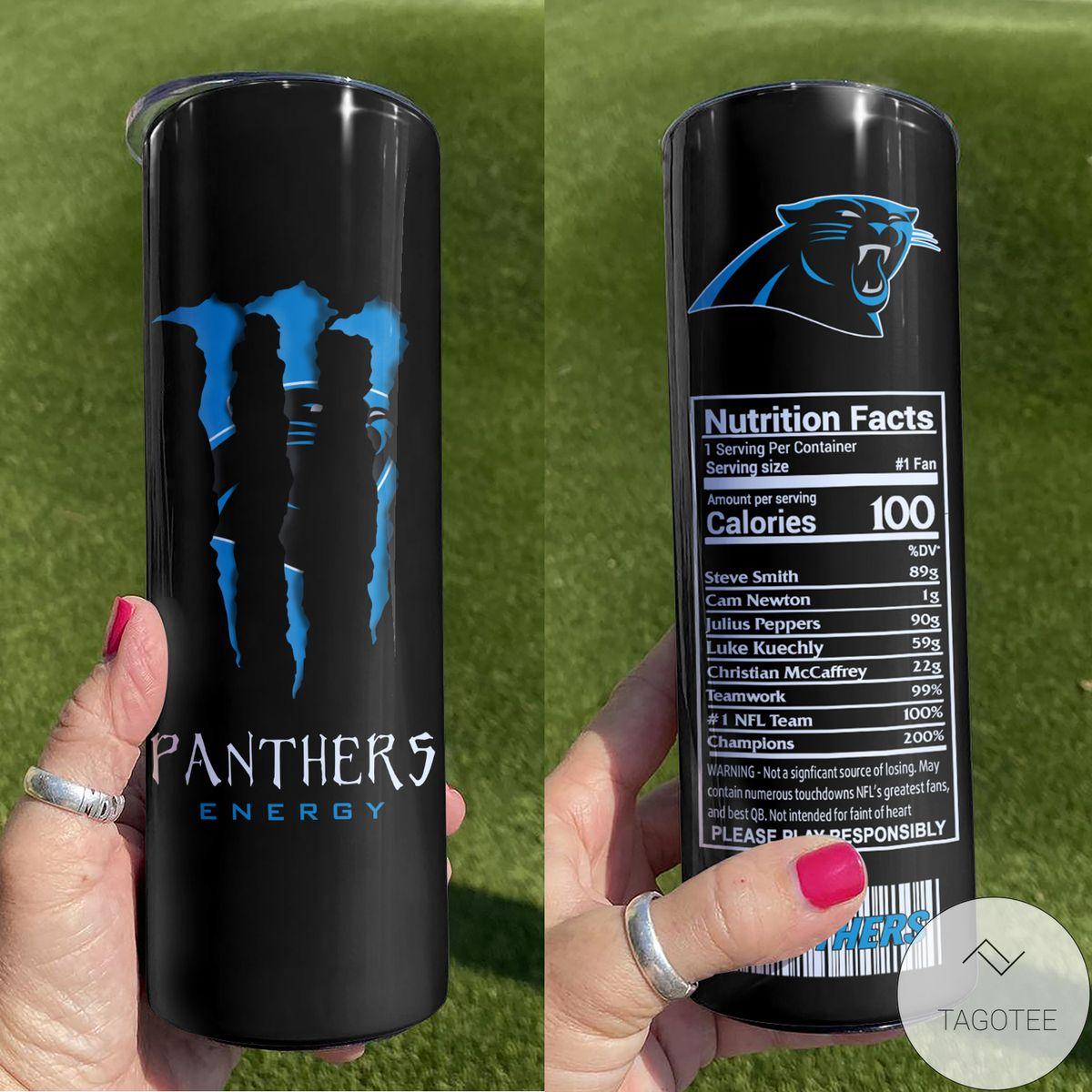 Carolina Panthers Monster Energy Skinny Tumbler