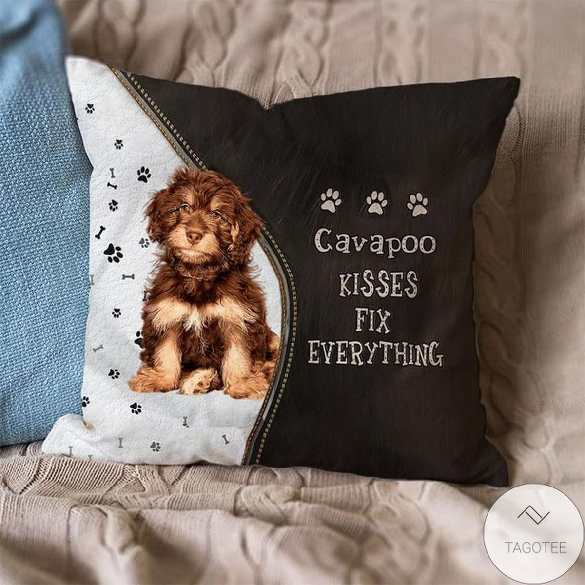 3D Cavapoo Kisses Fix Everything Pillowcase