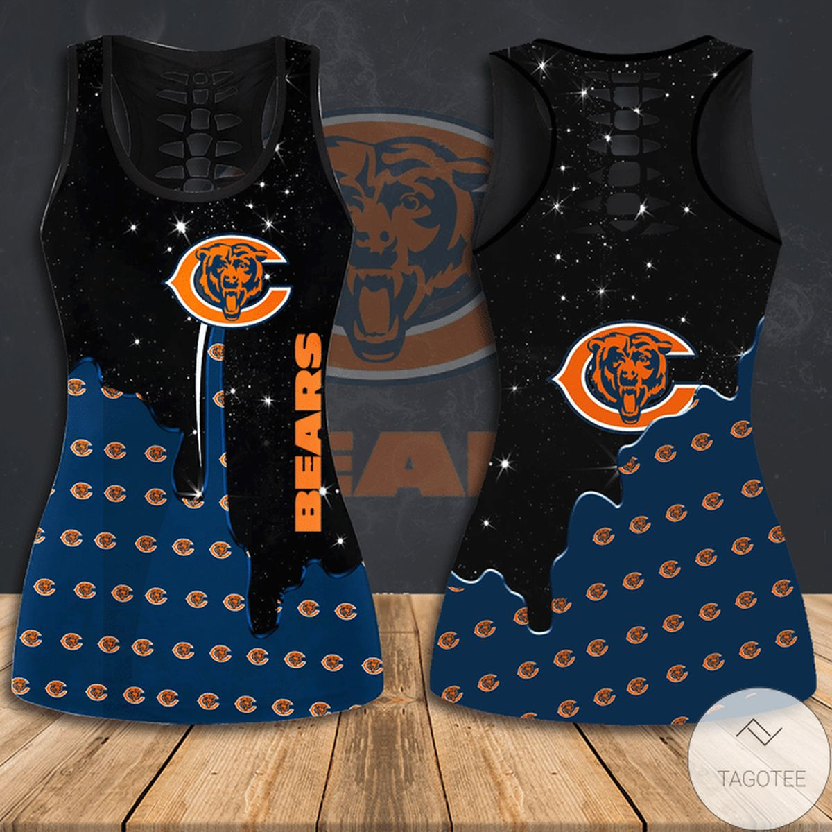 Top Chicago Bears Hallow Tank Top And Leggings