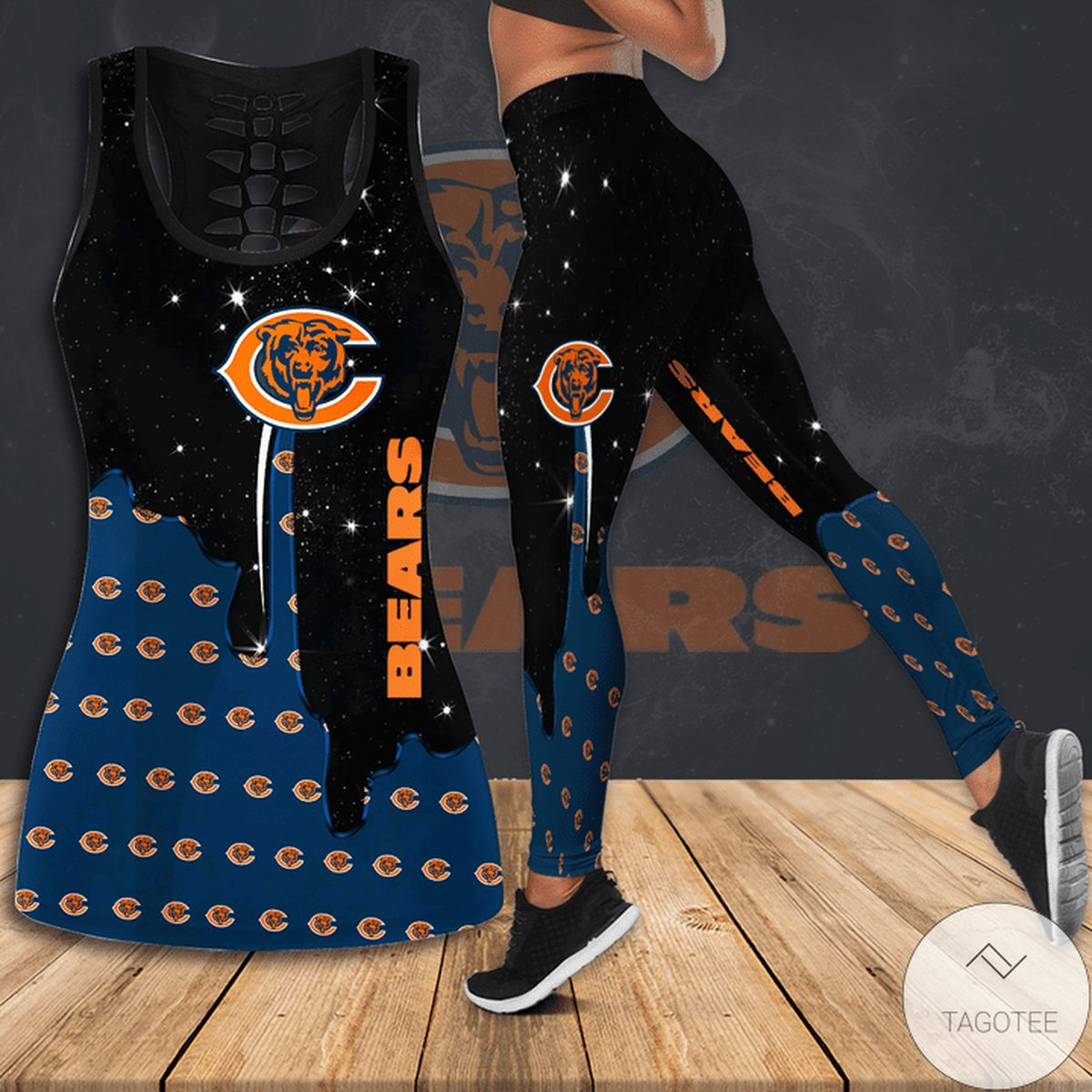 Unisex Chicago Bears Hallow Tank Top And Leggings