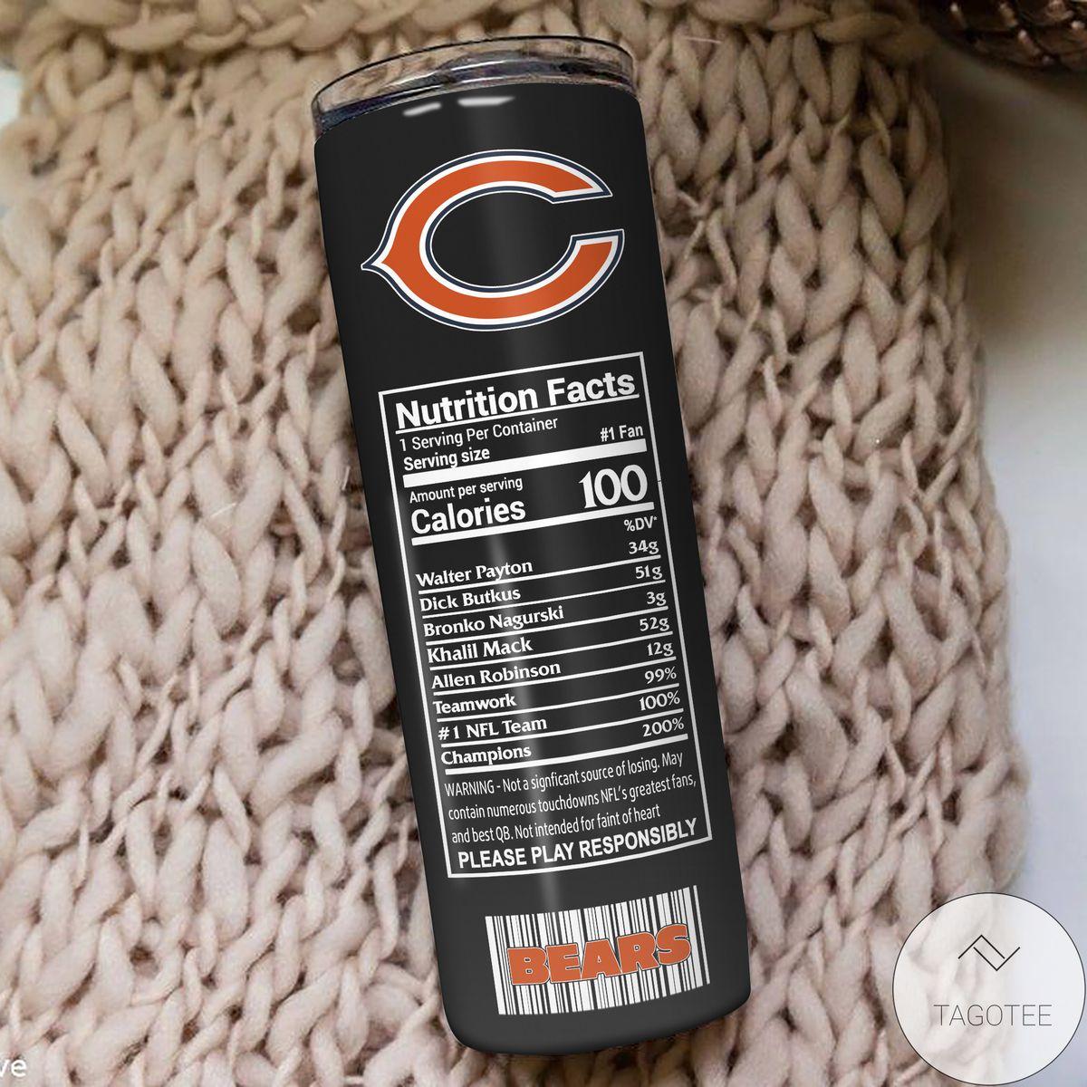Print On Demand Chicago Bears Monster Energy Skinny Tumbler
