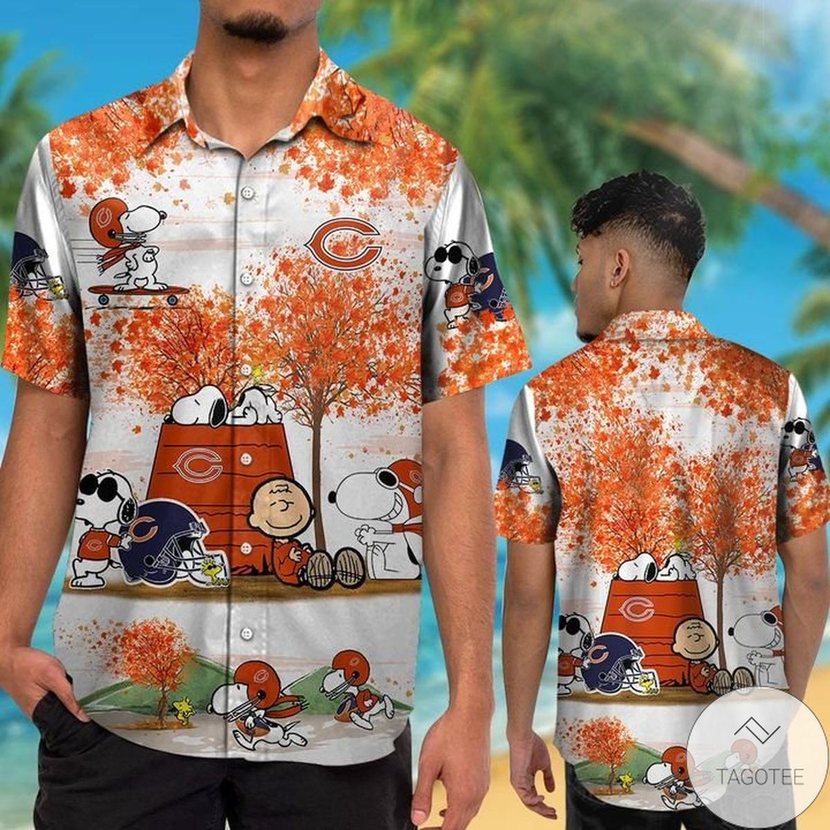 Beautiful Chicago Bears Snoopy Autumn Hawaiian Shirt