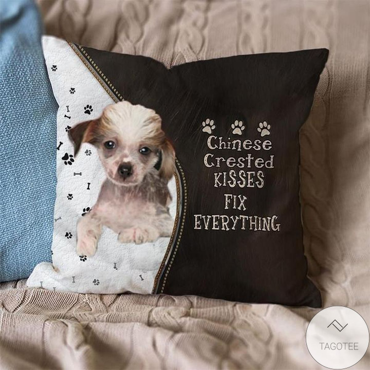 Chinese Crested Kisses Fix Everything Pillowcase