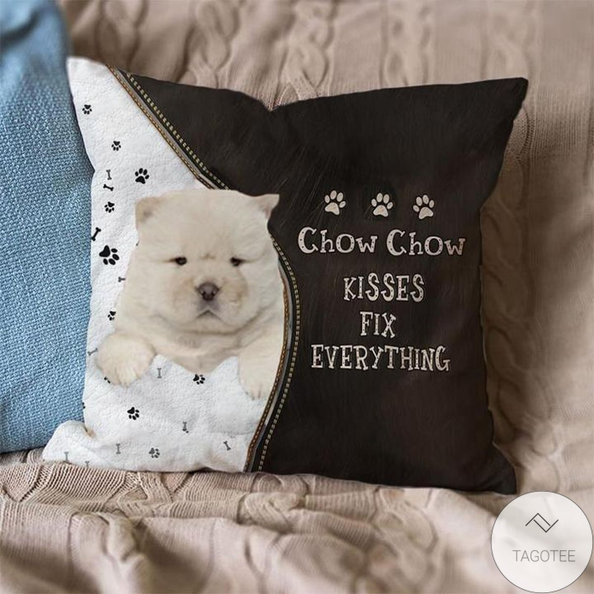 Mother's Day Gift Chow Chow Kisses Fix Everything Pillowcase