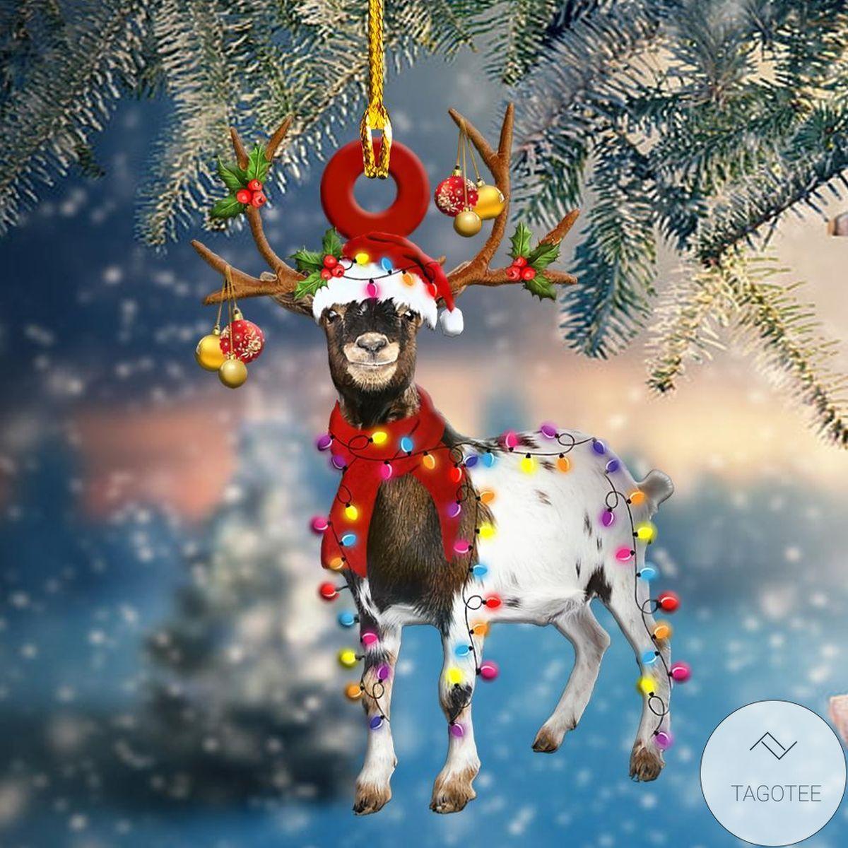 Unique Christmas Light Goat Shape Ornament