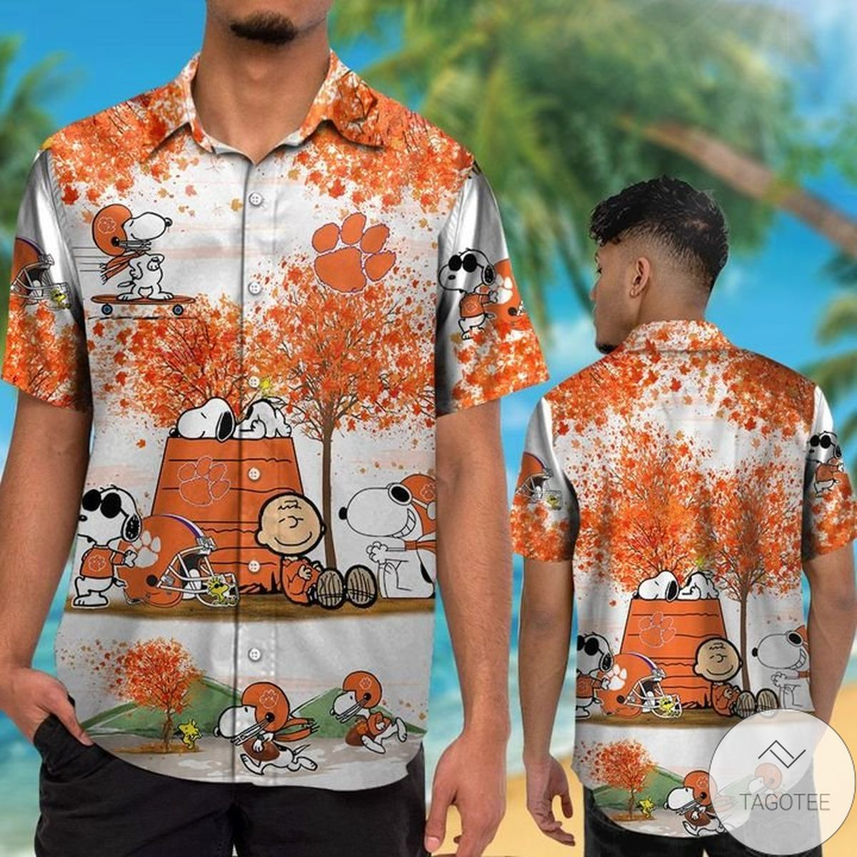 Clemson Tigers Snoopy Autumn Hawaiian Shirt