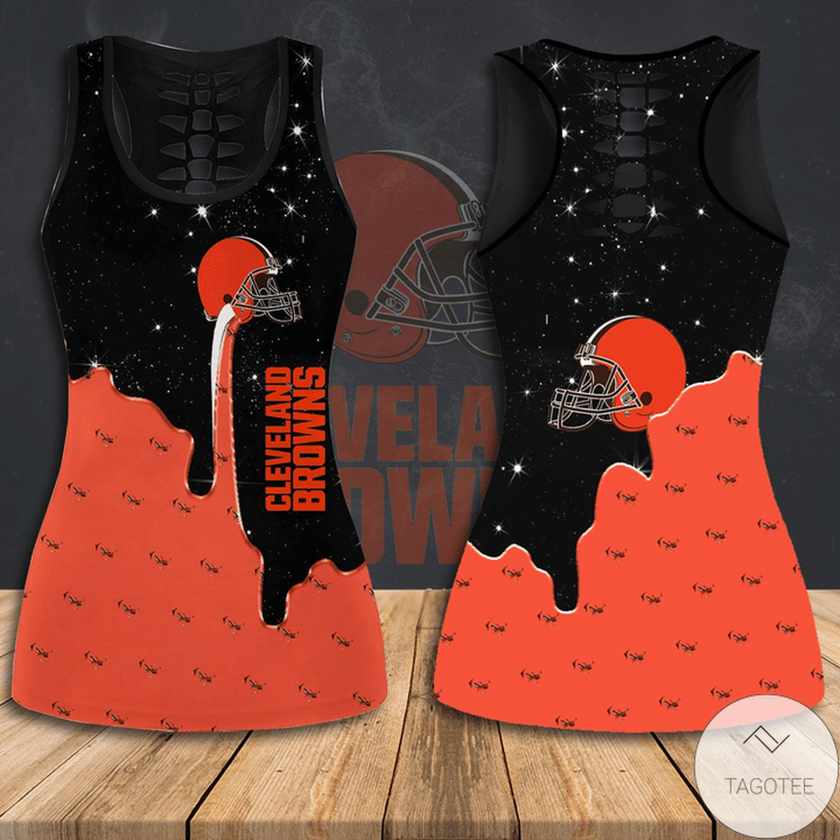 Adorable Cleveland Browns Hollow Tank Top And Leggings
