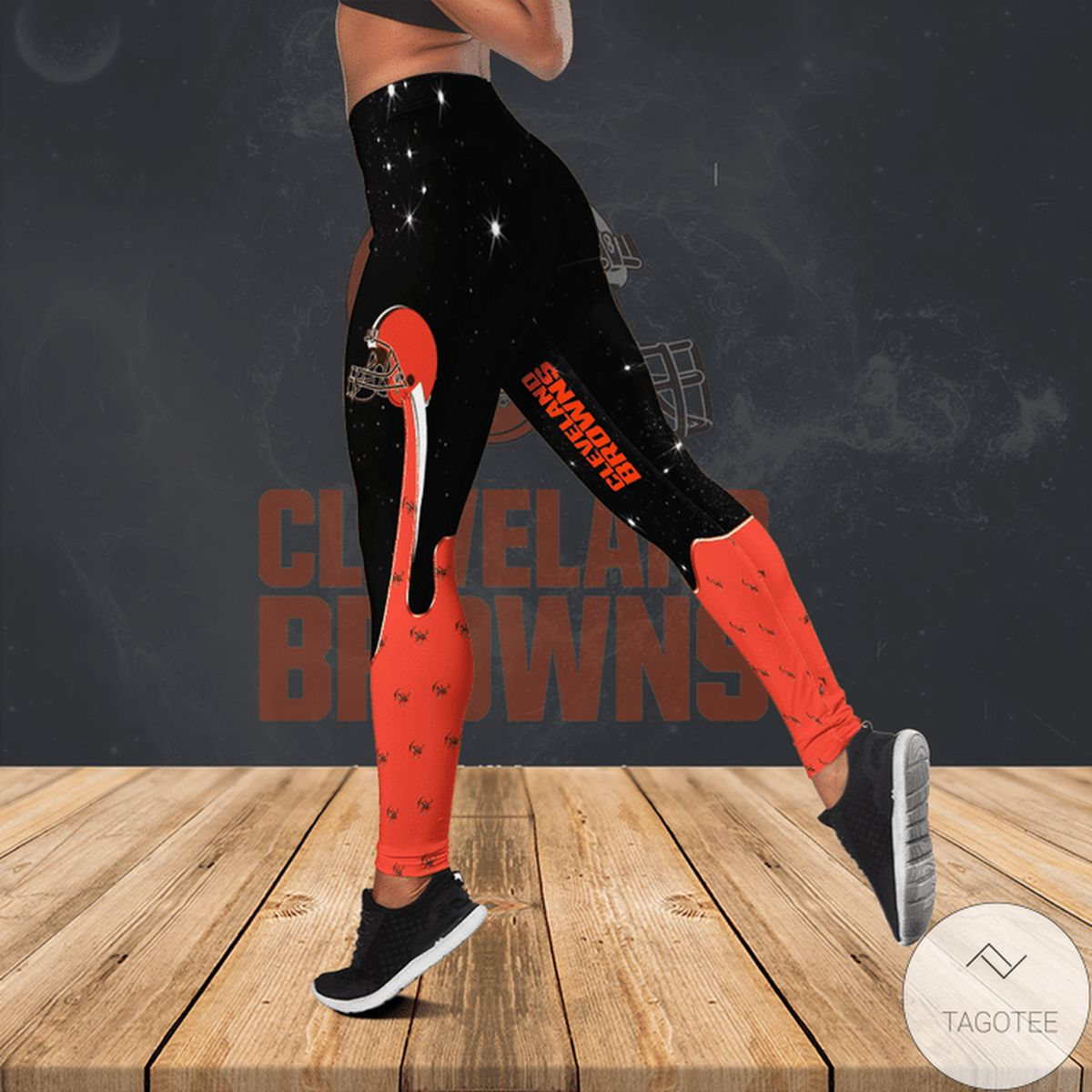 Gorgeous Cleveland Browns Hollow Tank Top And Leggings