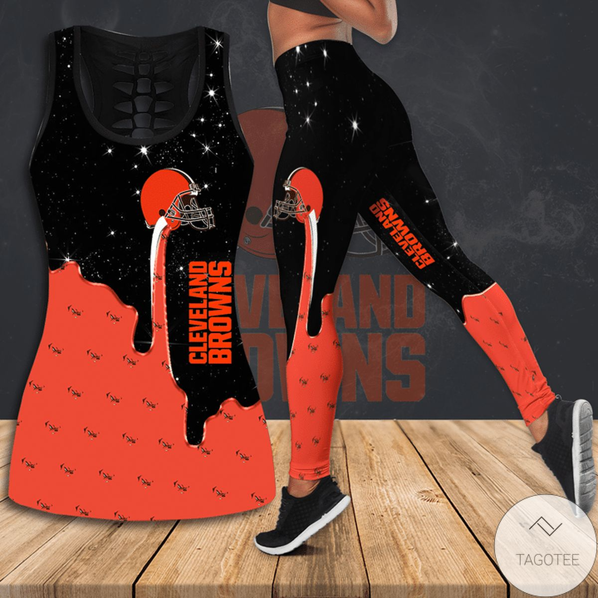 Cleveland Browns Hollow Tank Top And Leggings